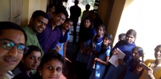 Mentor India with students