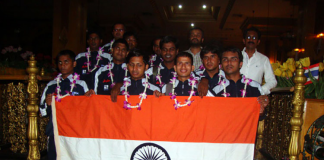 Indian blind soccer team
